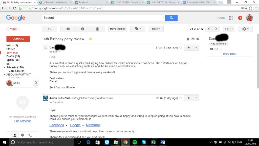 AEIOU kids Club reviews mail